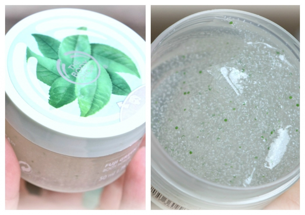 green tea scrub Collage